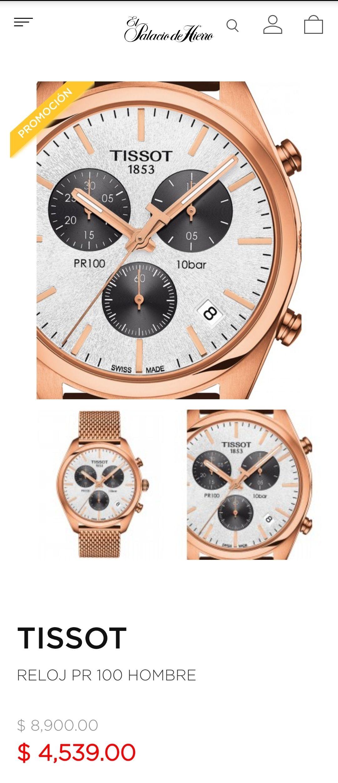 Palacio de hierro: Reloj Tissot con caja y bisel en acero inoxidable color oro rosa