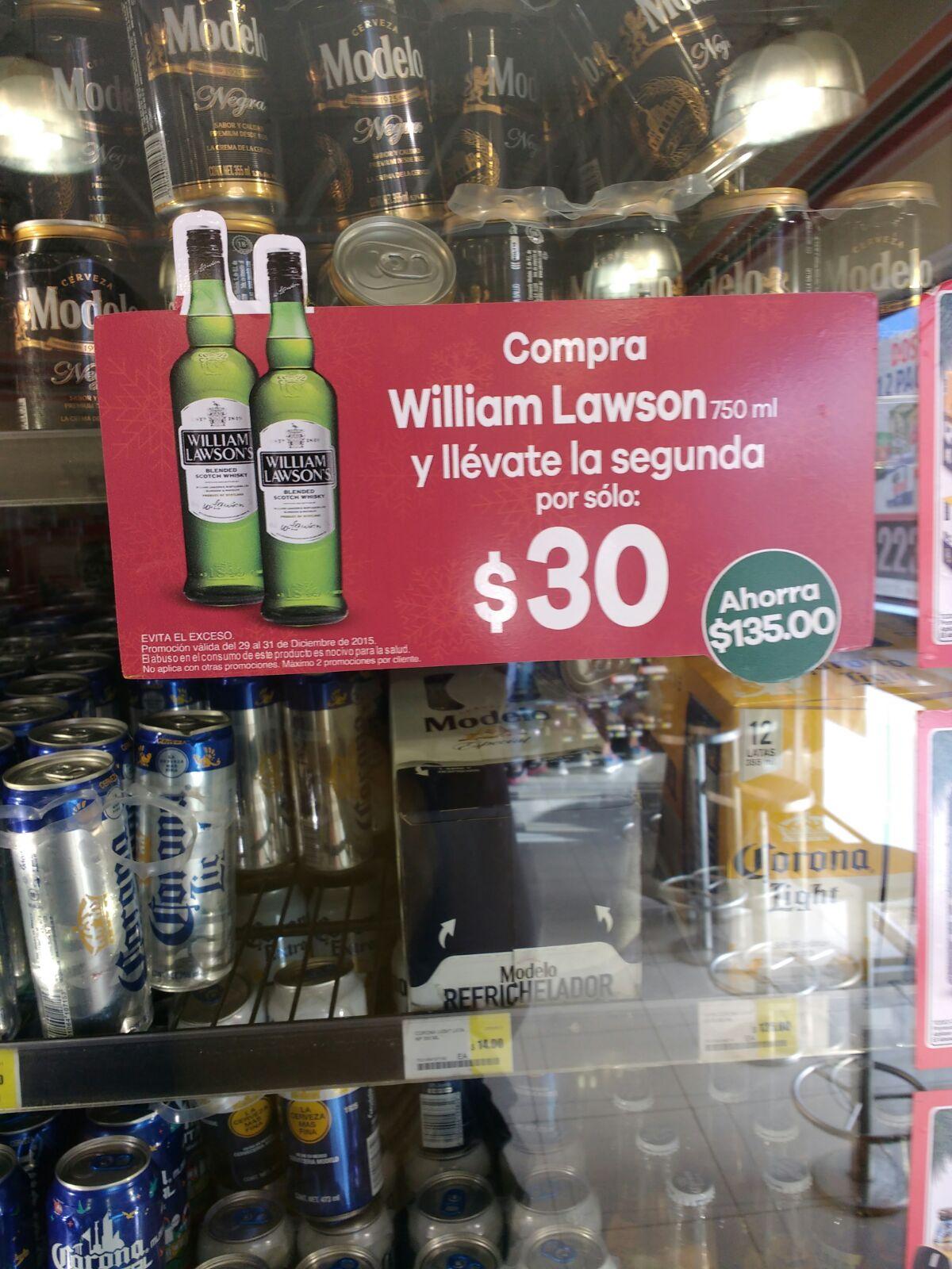 Seven Eleven: Dos Botellas William Lawson por $195