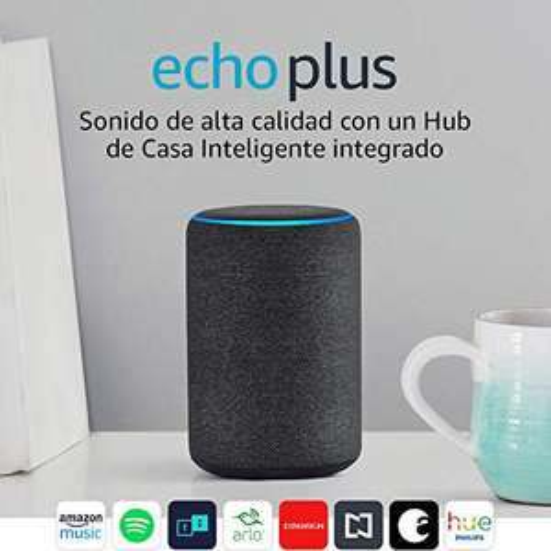 Amazon: Echo Plus (Negro y Gris Claro)