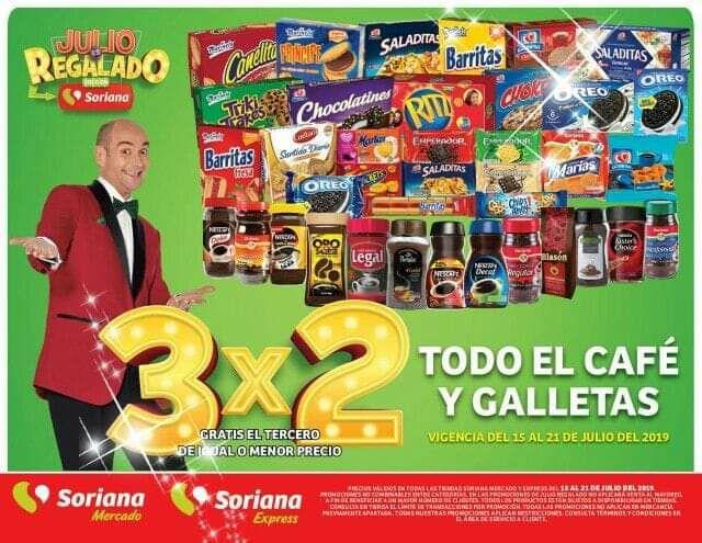 Julio Regalado 2019: 3x2 en todas las Galletas y el Café, del 15 al 21 de Julio