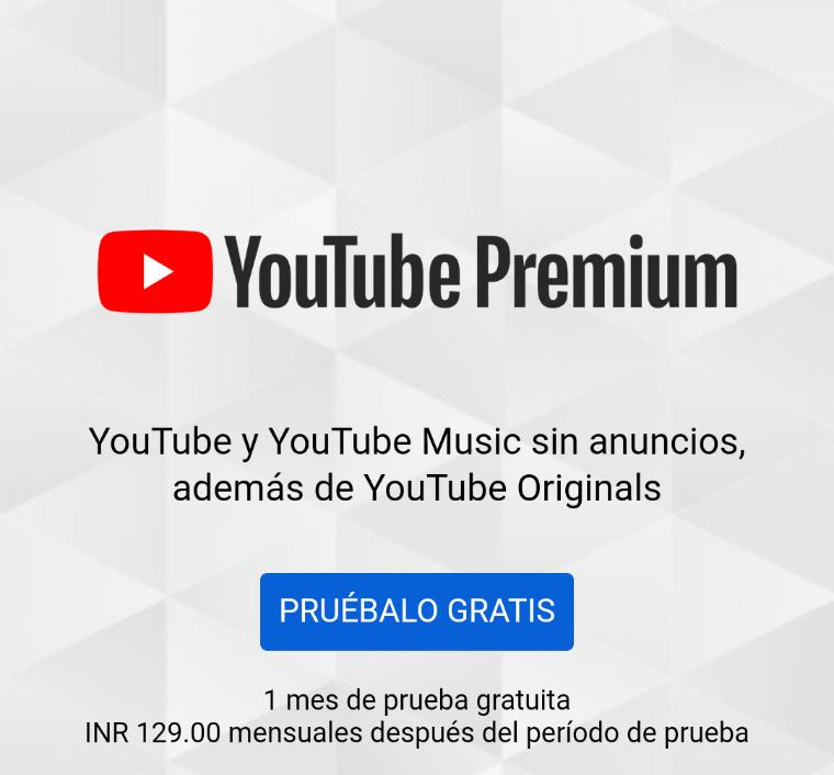 YouTube Premium por sólo 36 pesitos ($8 en plan familiar)