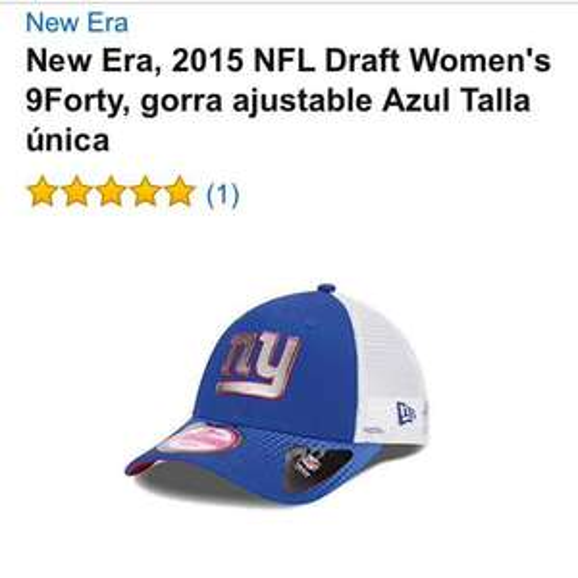 Amazon: Gorra New Era NFL para Mujer - $60 pesos