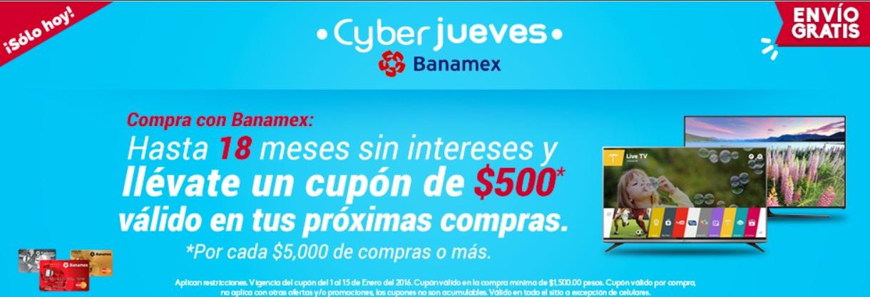 Famsa: Ciber jueves banamex diciembre 31