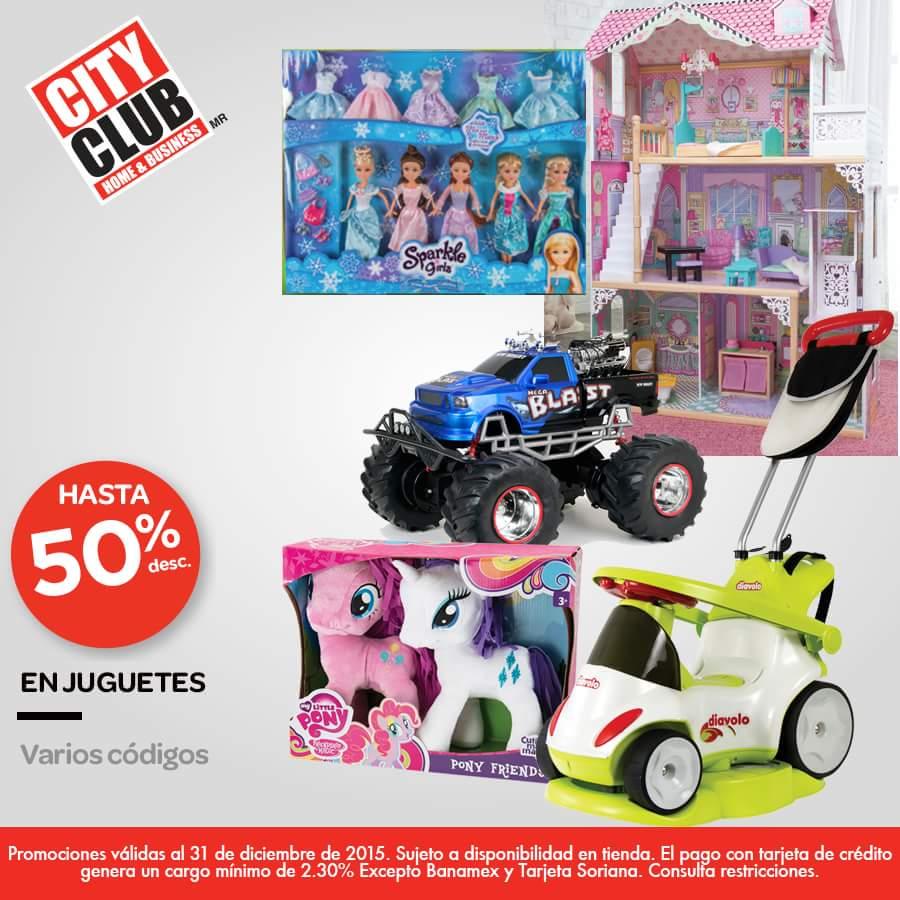 City Club: hasta 50% de descuento en juguetes solo hoy