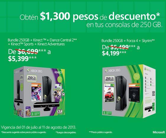 $700 y $1,300 de descuento en consolas Xbox 360
