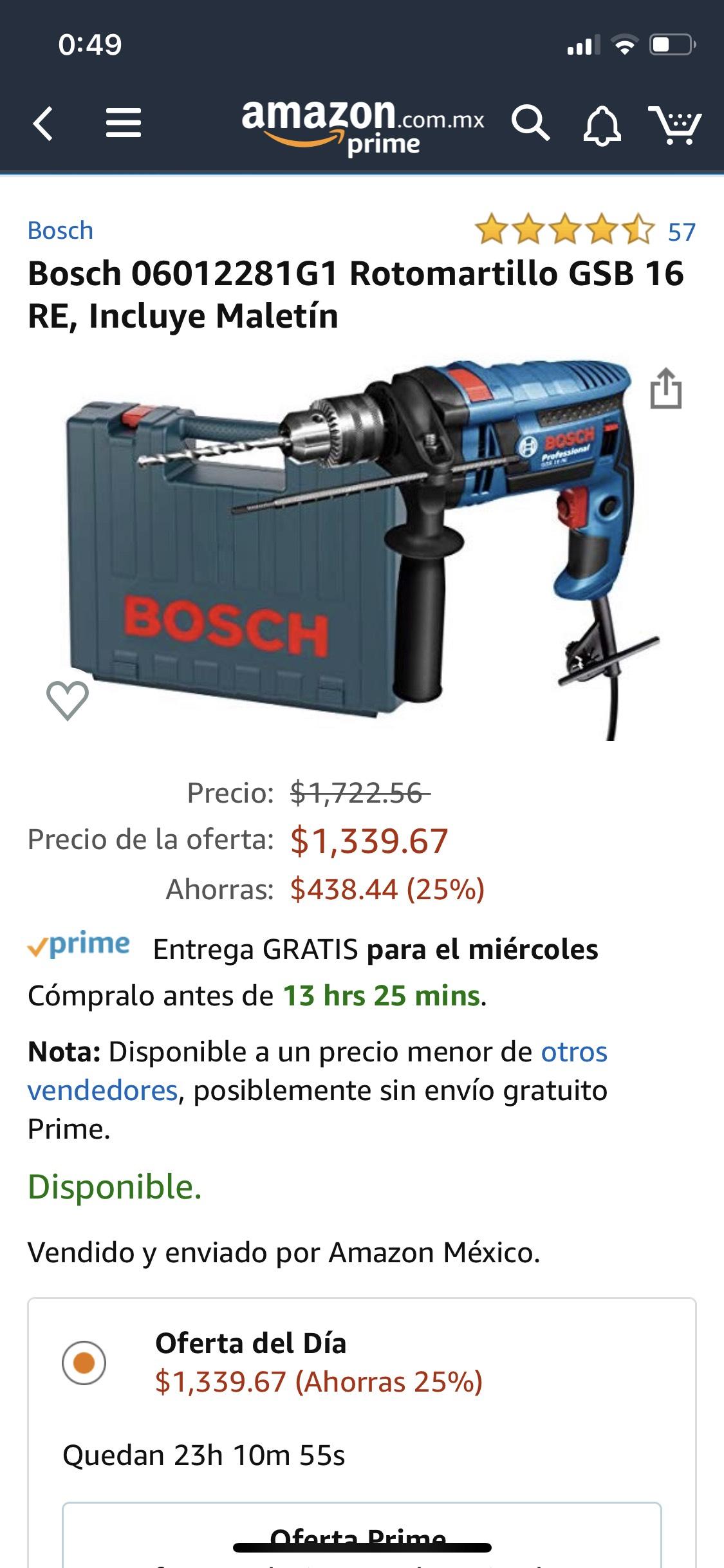 Amazon: Rotomartillo Bosch
