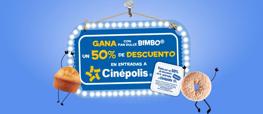 Cinépolis & Bimbo: Entradas al 50% presentando sticker de productos Bimbo marcados en taquillas (aplica en 3D y Macro XE)