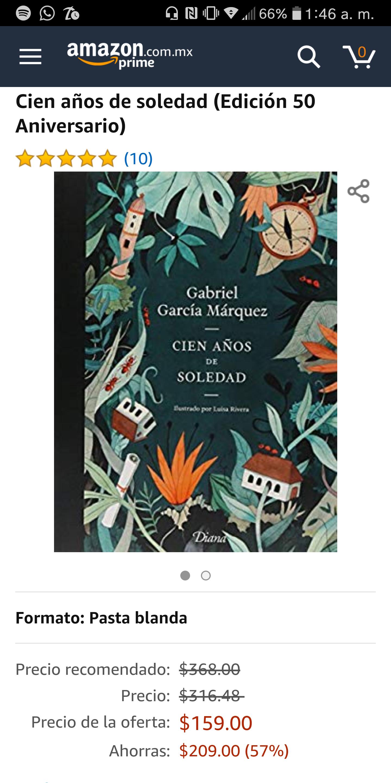 Amazon Mx: Cien Años de Soledad (Edición Ilustrada 50 aniv.) con Prime