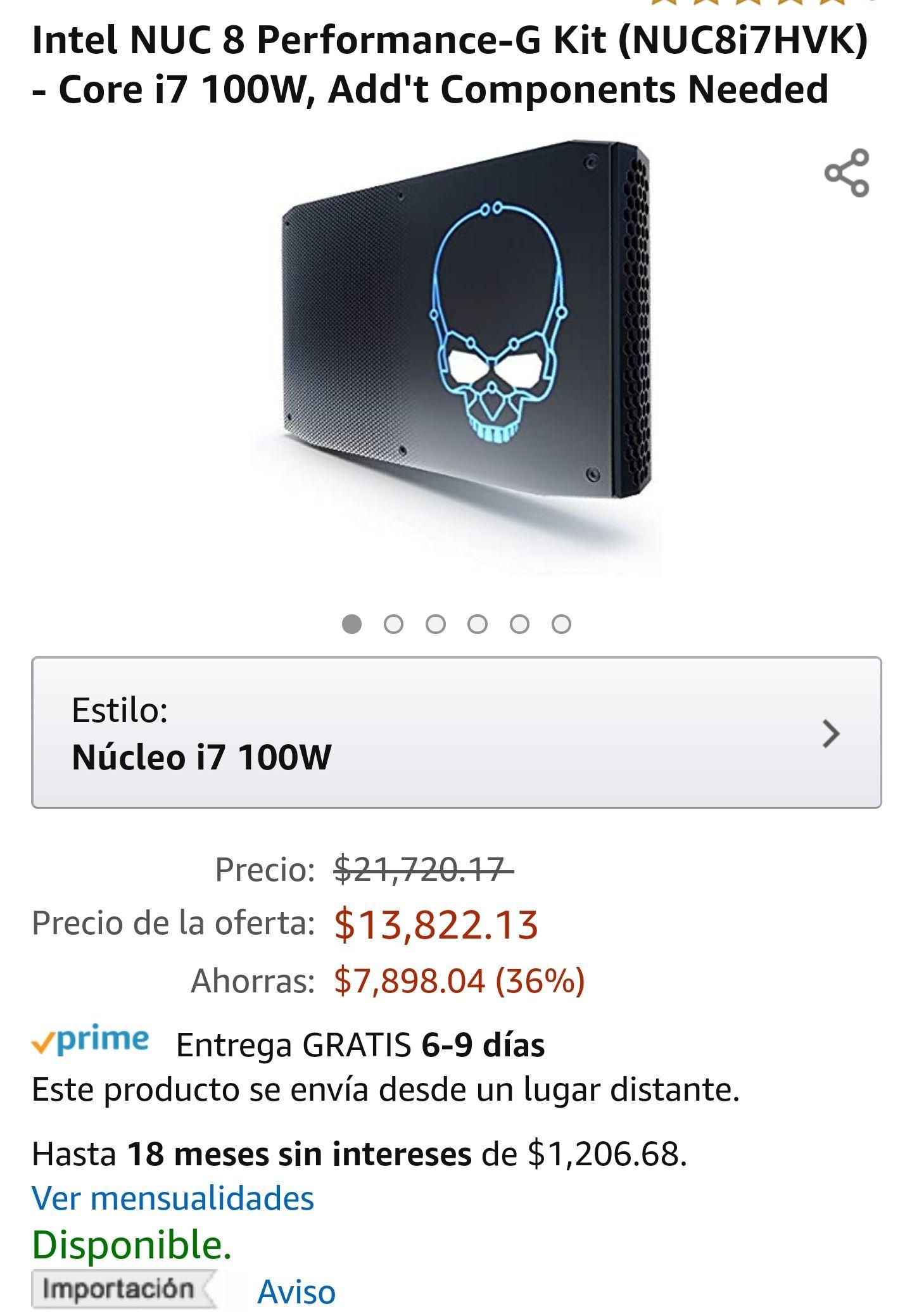 Amazon: Intel NUC 8 Core i7Mini pc
