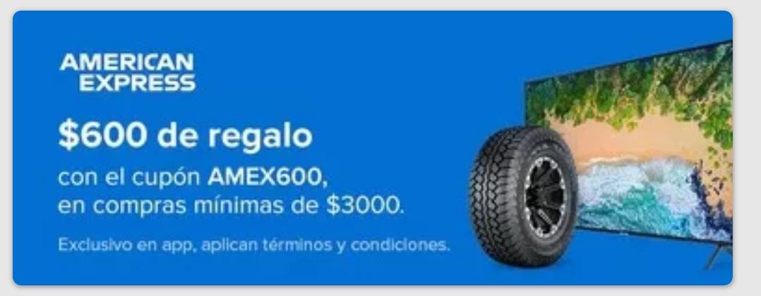 -$600 en compras de $3000 con AMEX en MercadoLibre