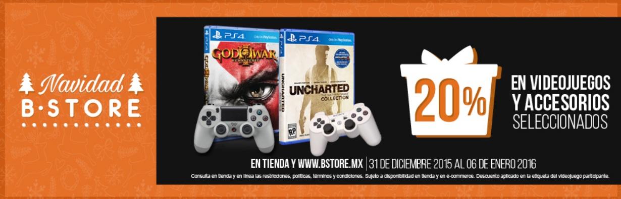 The B Store: 20% de descuento en juegos y accesorios para PS4 y 25% para Xbox