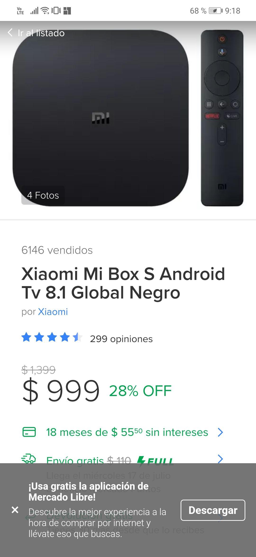 Tienda oficial Xiaomi en Mercado Libre: Mi Box S 8.1