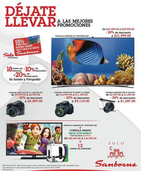 Sanborns: 20% en audio y fotografía. Cámara Sony A57 $5,990 y más