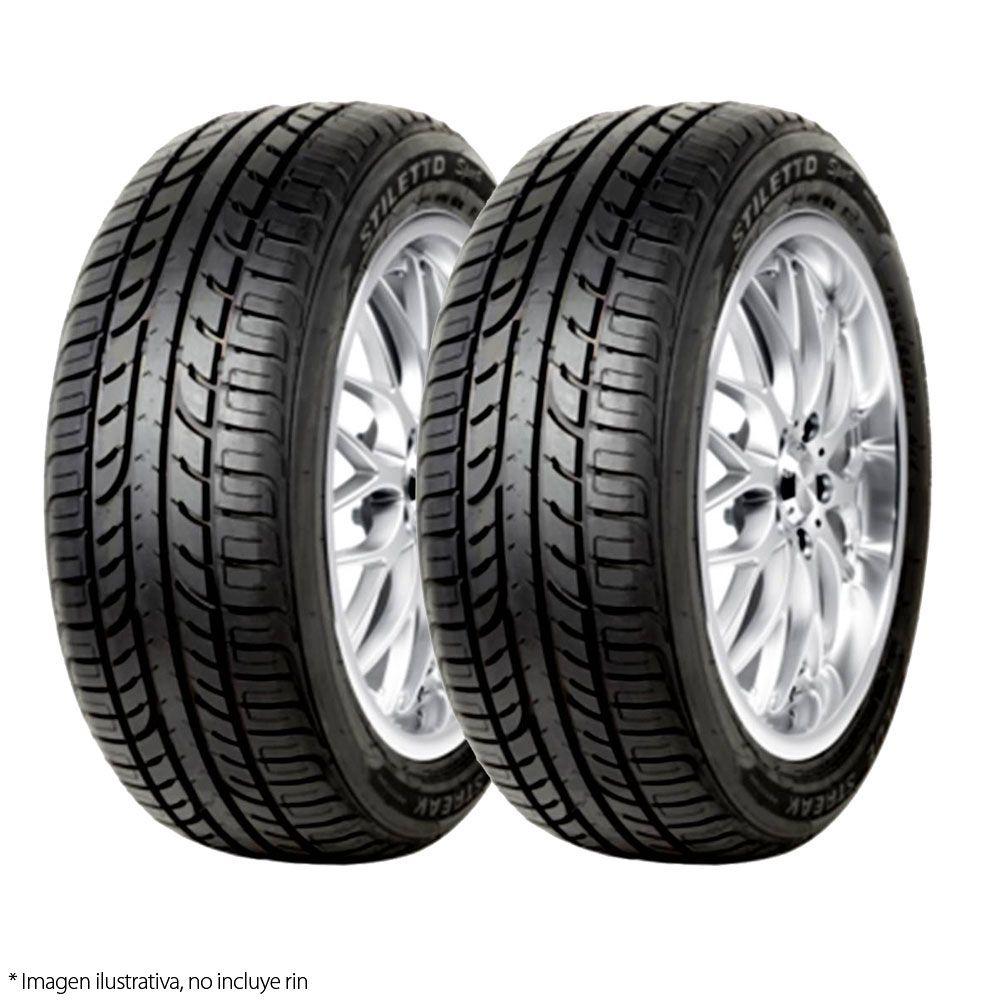 Walmart: Paquete 2 Llantas Stiletto (Goodyer) 205/55R16 91V Blue STR STI Sport
