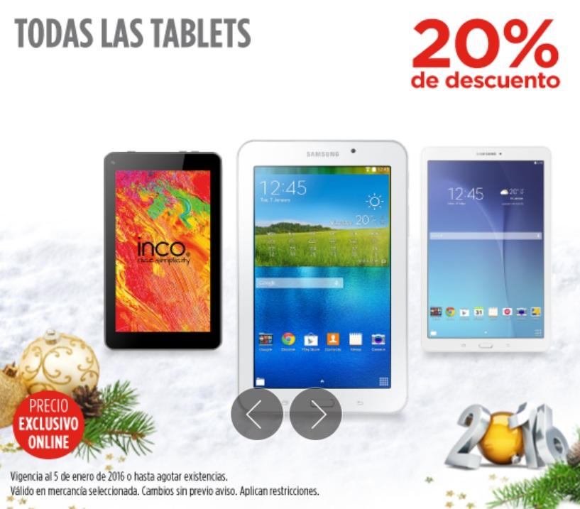 Elektra: 20% de descuento en todas las tablets