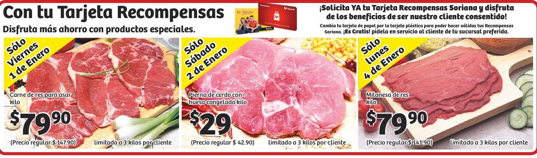 Soriana: oferta de carnes para viernes, sábado y lunes