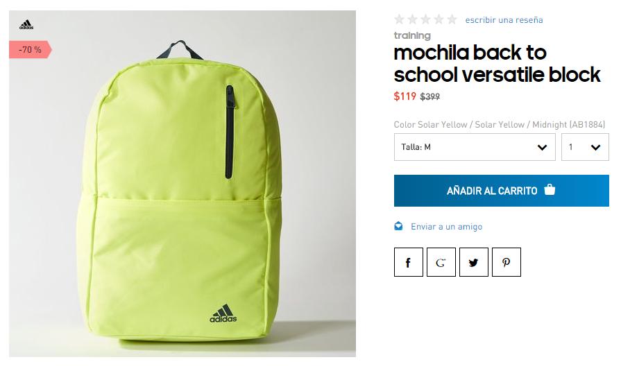 Adidas: Mochila Adidas $119