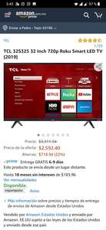 "Amazon: TCL Roku Smart LED TV 32"" (2019)"