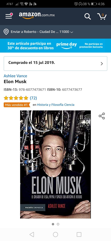 Amazon: Libro Elon Musk Amazon Prime Day