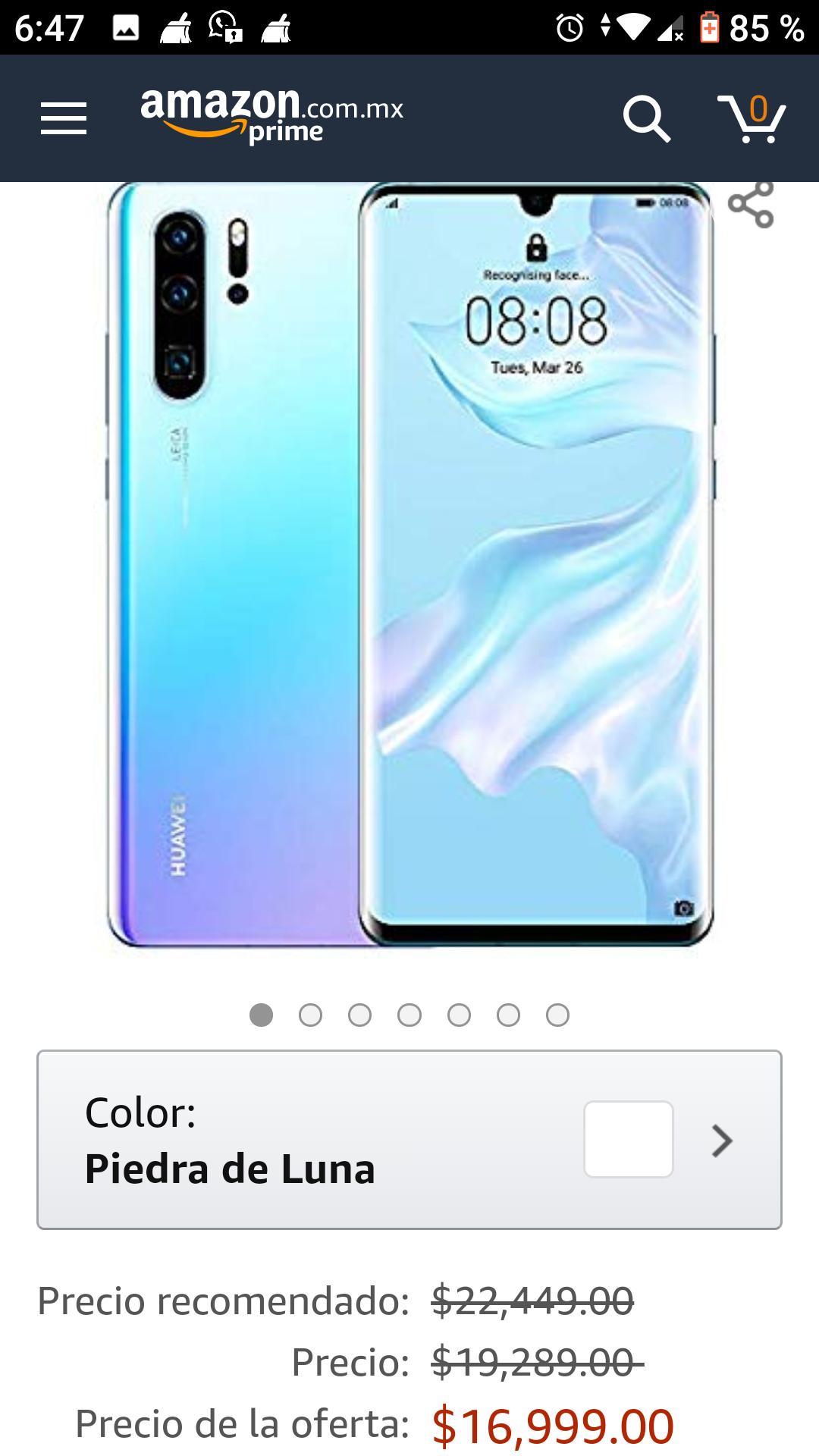 Amazon: Huawei P30 pro 256GB/8GB