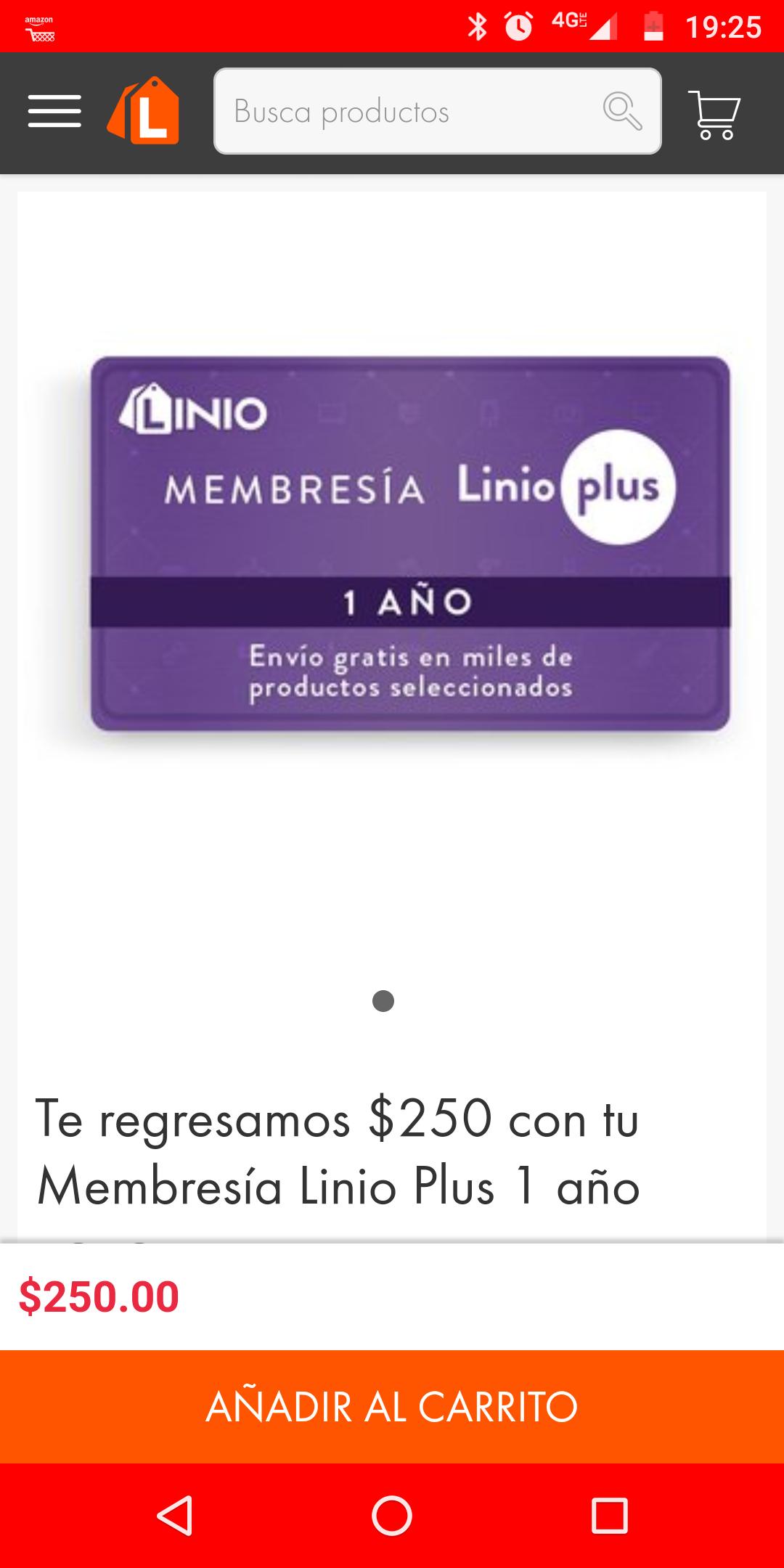 Linio. Membresía Linio Plus. Reembolso en cupón el costo de la membresía