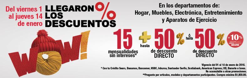 Sears: hasta 50% de descuento en varios departamentos