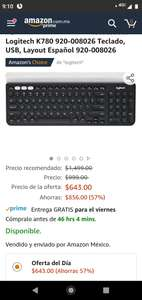 Amazon: Teclado Logitech K780