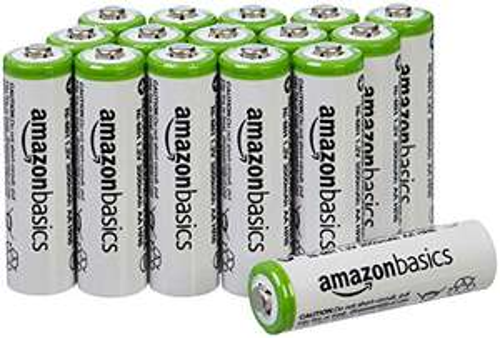 Amazon: Juego de 16 pilas recargables AA Ni-MH (precargadas, 1000 ciclos, 2000 mAh / mínimo 1900 mAh