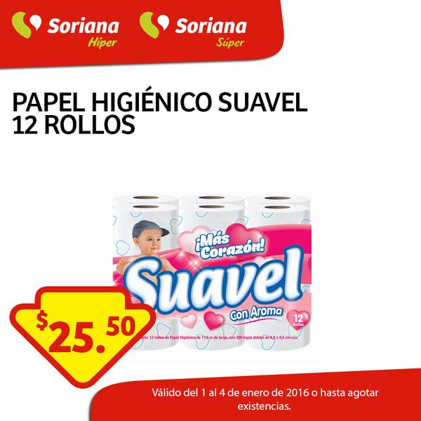 Soriana: papel higiénico Suavel de 12 Rollos a $25.50, 5 jabones Escudo a $29.90 y más
