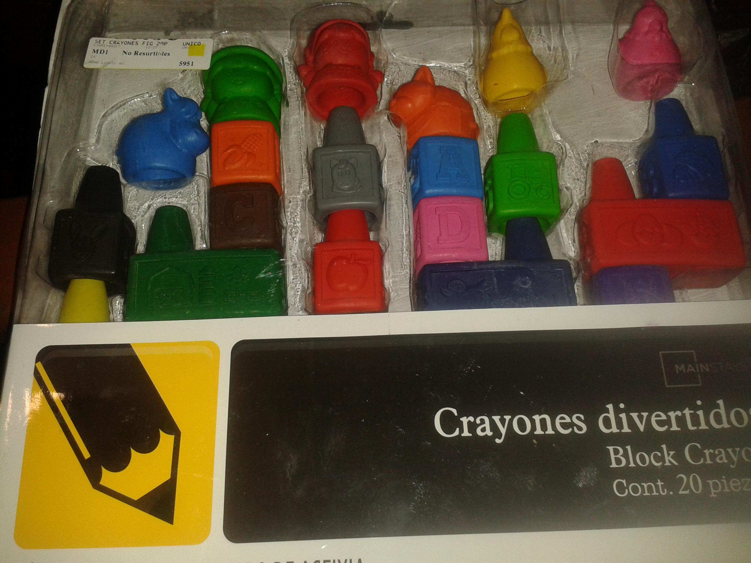 Walmart: crayones en cubos a $5