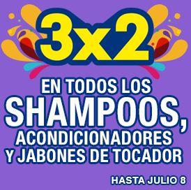 Julio Regalado en La Comer: 3x2 en shampoos, acondicionadores y jabones