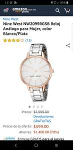 Amazon: Reloj Nine West