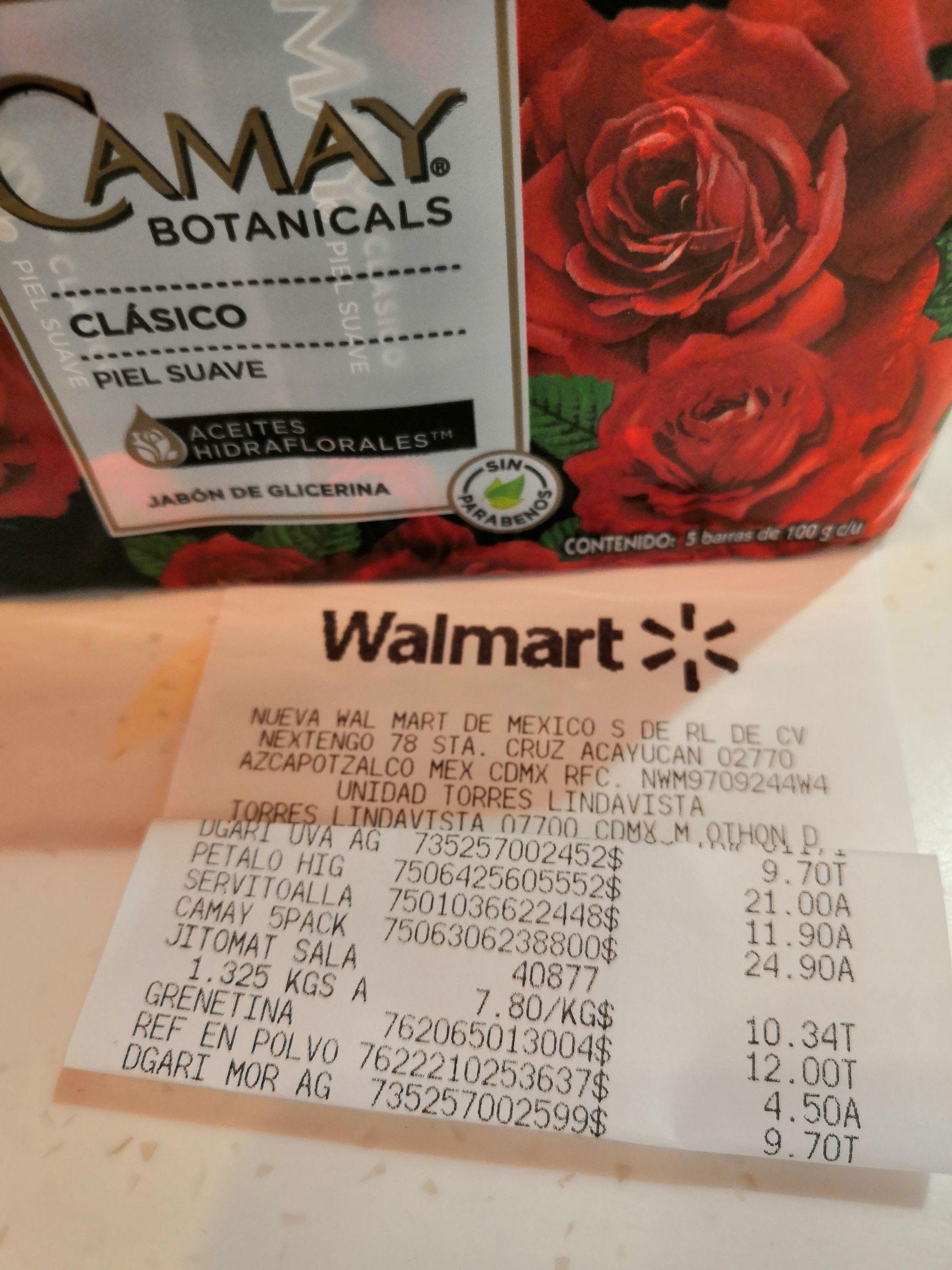 Walmart torres lindavista: paquete camay 5 piezas