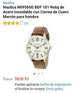 Amazon: Reloj de Acero Inoxidable Nautica N09560G a $828