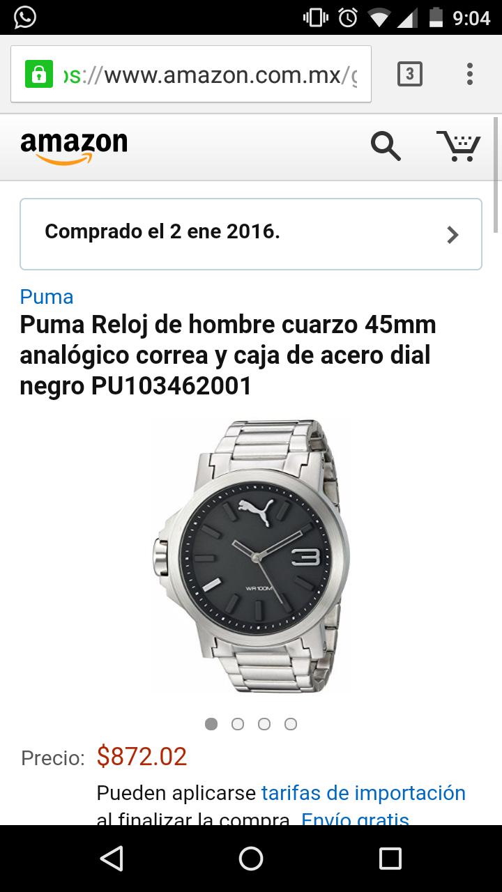 Amazon: Reloj puma PU103462001