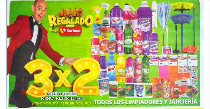 Julio Regalado 2019: 3x2 en todos los Limpiadores del hogar y Jarcieria