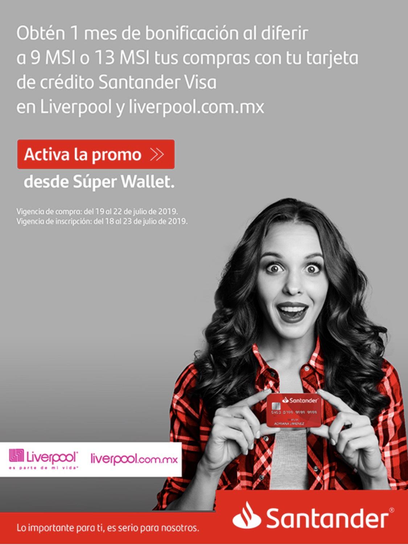 Santander: bonificación de 1 mes en Liverpool