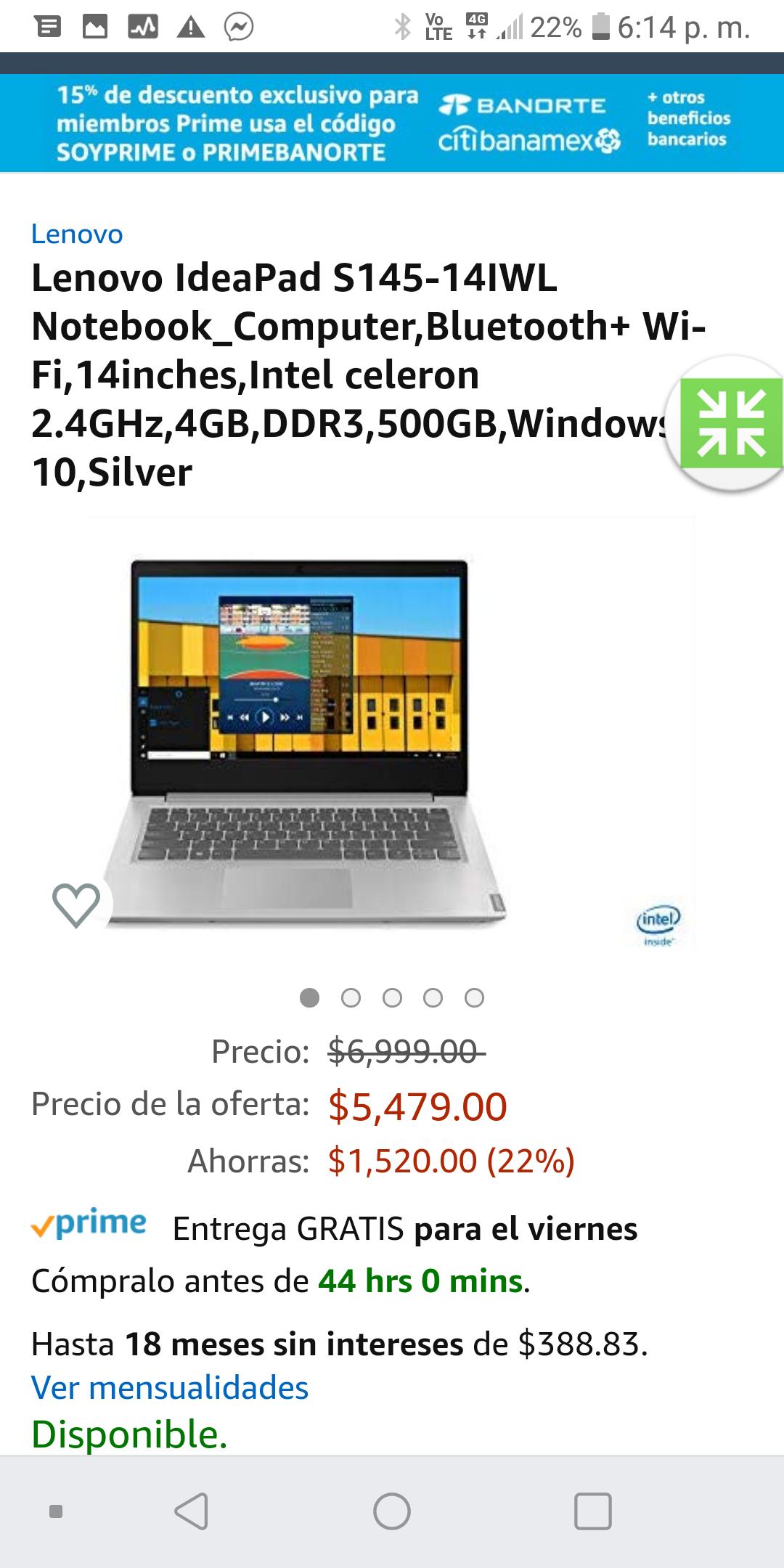 Amazon : Lenovo IdeaPad S145-14IWL