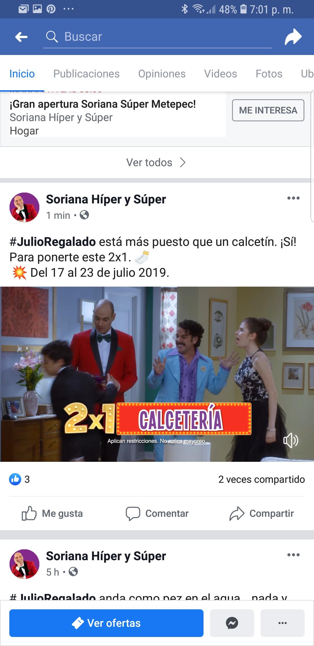 Julio Regalado 2019 Soriana Calcetines al 2x1
