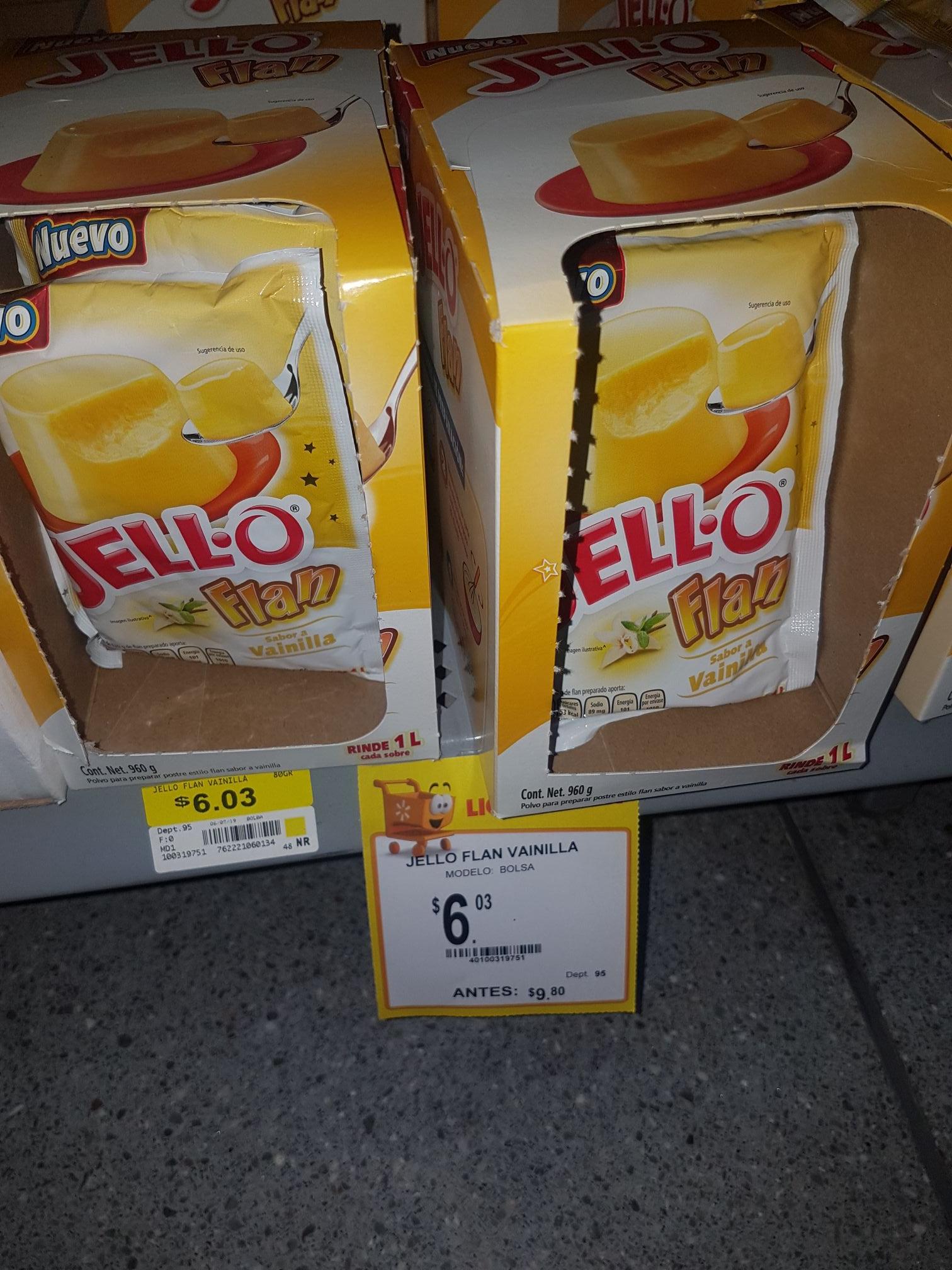 WALMART MACROPLAZA SLP: flan jell*o 1 L