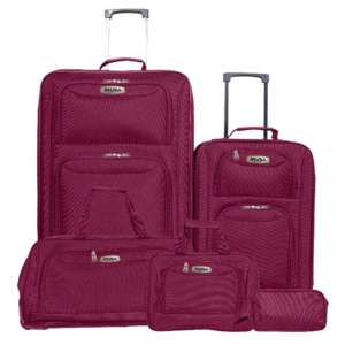 Sears en línea: Set 5 Pzas (maletas) 20 28 Bolsa Rod Cosmetiq y Tollet Vn Inusa