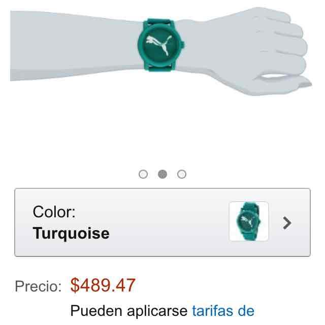 Amazon: reloj Puma turquesa unisex a $489