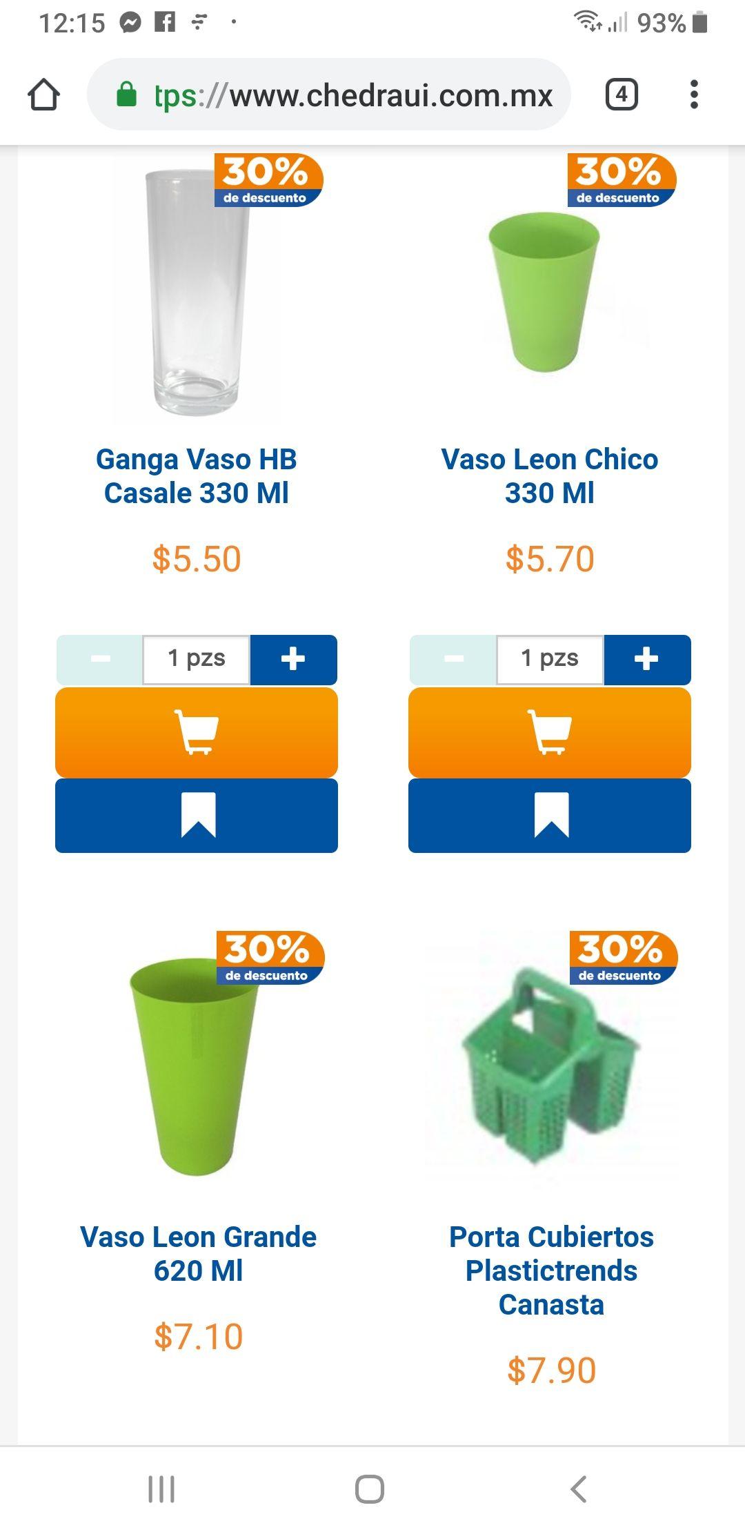 Chedraui en línea: 30% Desc Toda la Loza, Cristaleria, Sartenes, Melamina, Plastico de Mesa y Plastico Limpieza