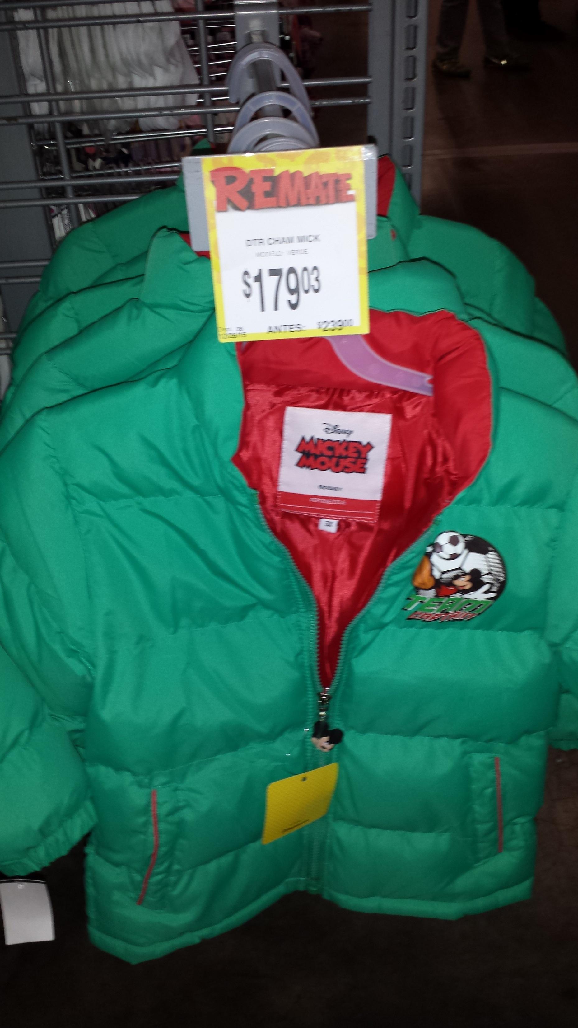 Bodega Aurrerá Los Reyes: Chamarras de Disney a $179.03