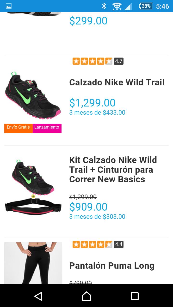 Netshoes: tenis + cinturon deportivo en oferta