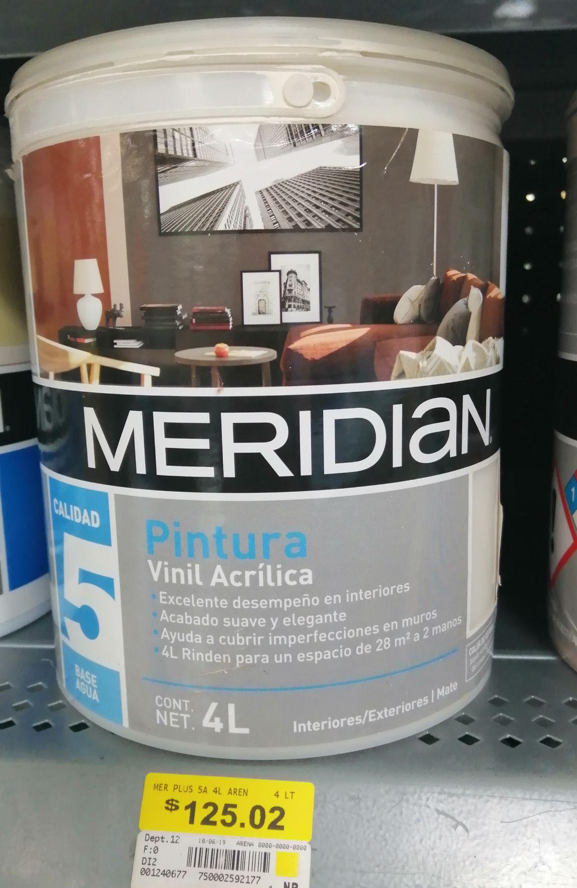 Bodega Aurrerá:  Pintura calidad plus (5) Meridian