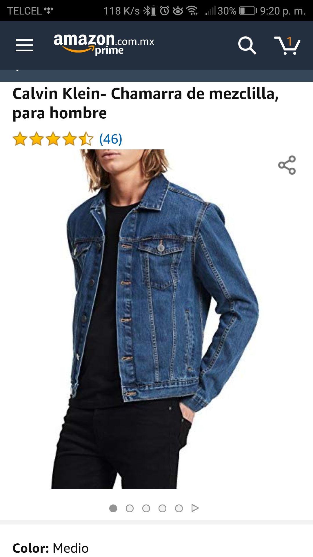 Amazon: Calvin Klein Chamarra de mezclilla para hombre, talla extra chicha y extra grande