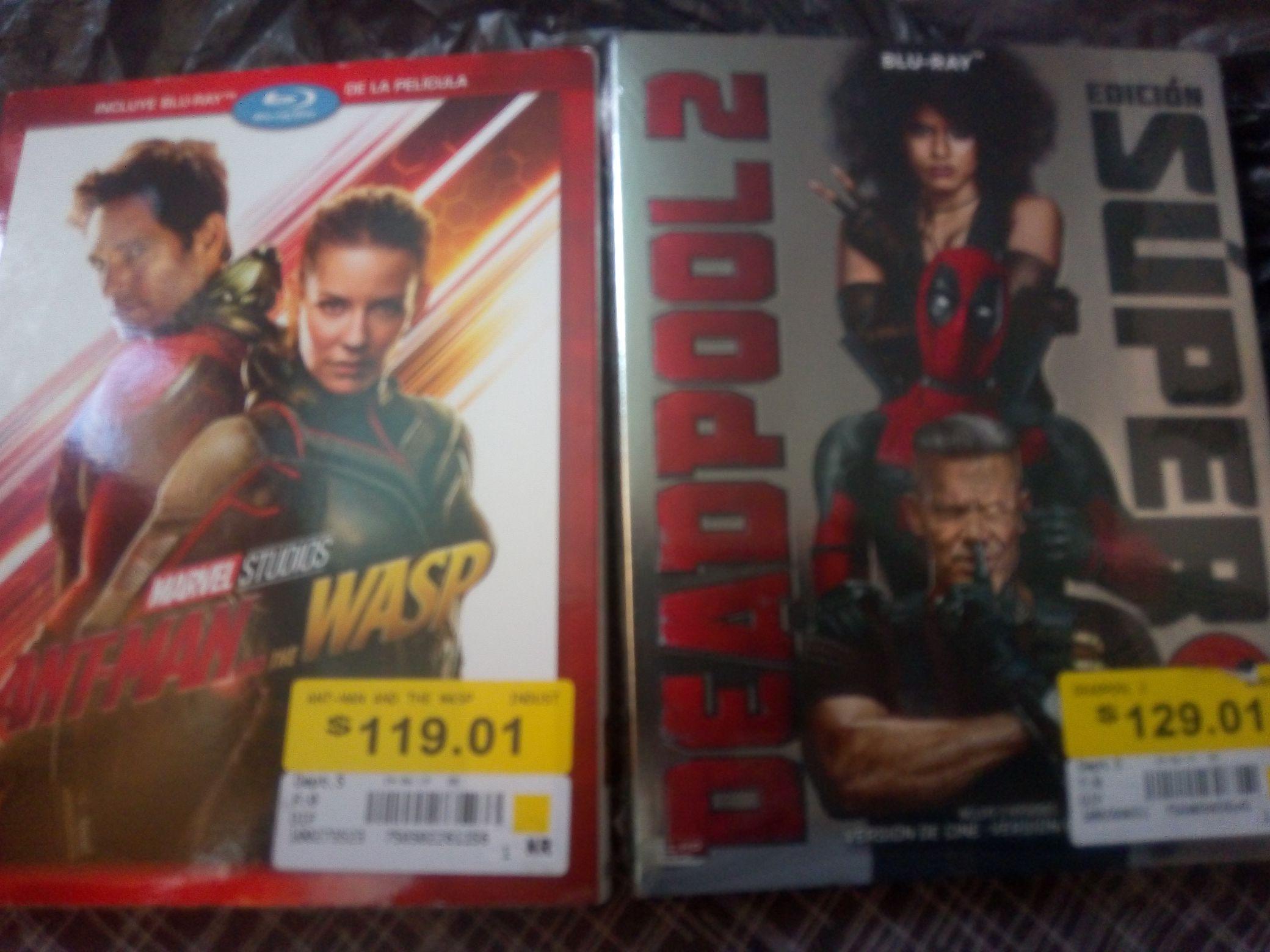 Walmart: Deadpool 2 y Ant Man and The Wasp en Blu-ray en oferta