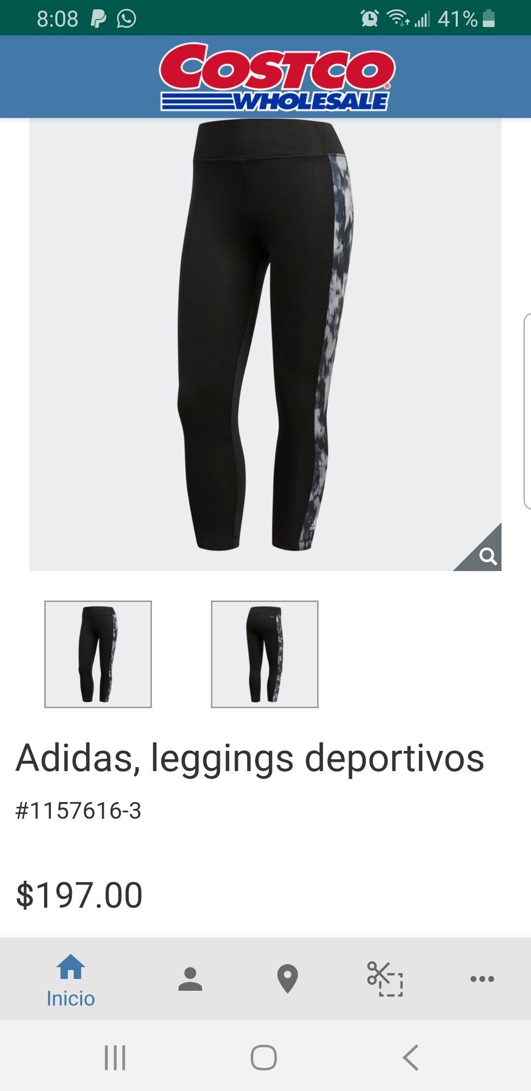 Costco online : leggins Adidas varios colores talla G y XG,