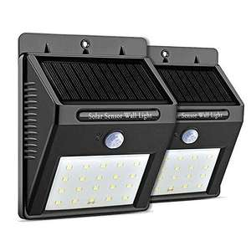 Amazon: Luminarias Solares de 20 LED para Exteriores Con Sensor de Movimiento y Modo Nocturno aplica Prime